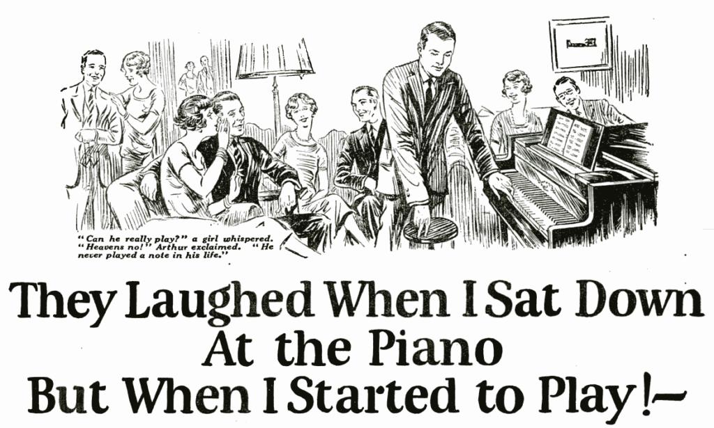 Storytelling: vignetta pubblicitaria di John Caples del 1925
